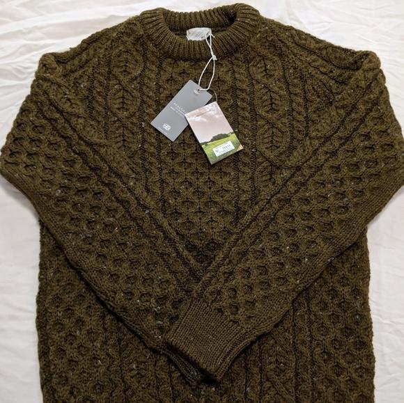 f3b0f58c4ab8f9 New Peregrine Hudson Aran Sweater in Khaki XXL